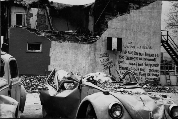 Bombing of the Crusade for Justice building, March 1973