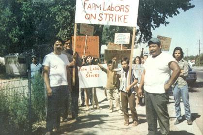 Farm laborers on strike in Pueblo